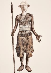 Bevan de Wet, 2008, Self as Other, etching, 100x70cm