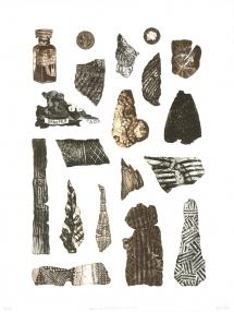 Bevan de Wet, 2011, Fragments of a Forgotten History I, etching, 76x56cm