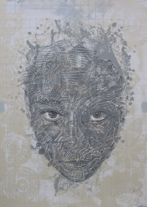 Bevan de Wet, 2012. Oscillum XV, 100cmx70cm, screenprint