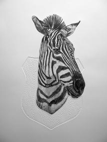 Bevan de Wet, 2012. Trophy Mounted, etching, 75cmx54cm