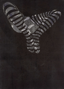 Bevan de Wet, 2013, Unholy Ornament III, (AP), linocut with mono, 108x76cm